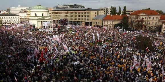Manifestación en Varsovia. 29 de septiembre de 2012