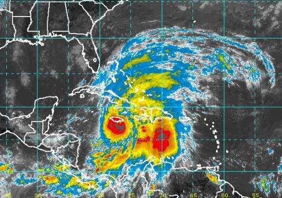 Última imagen, captada a las 14:06 horas. Instituto de Meteorología.