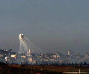 Israel emplea fsforo blanco contra Franja de Gaza