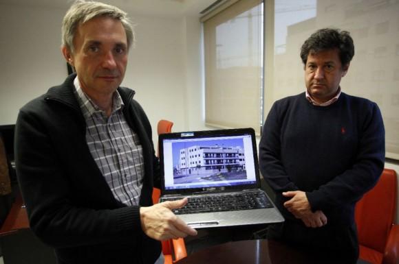 Antonio Gimeno, a la izquierda, junto al presidente de la fundación que ha creado, Carlos García. Foto: Álvaro García.