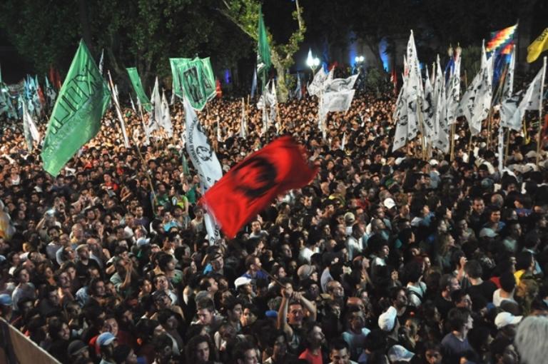 Argentinos celebran la democracia. FOTO: Kaloian Santos Cabrera