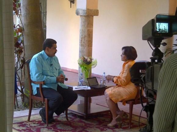 Vicepresidente venezolano, Nicolás Maduro, ofrece entrevista exclusiva a Telesur
