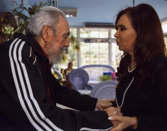 Fidel y Cristina durante su encuentro en el 2009. Foto: Archivo de Cubadebate