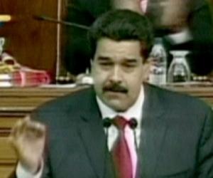 Nicolás Maduro en la televisión.