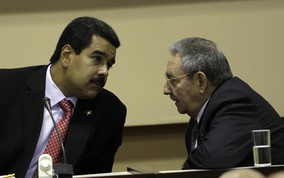 Presiden Raúl Castro y Nicolás Maduro, calusura de la Comisión Intergubernamental Cuba-Venezuela. Foto: Ismael Francisco/Cubadebate.