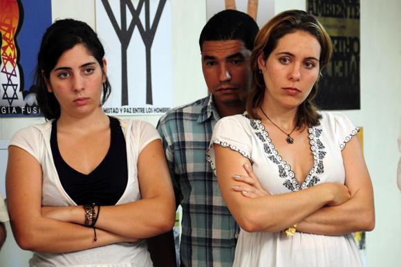 Ivette e Irma, hijas de René González. Foto: Ladyrene Pérez/Cubadebate.