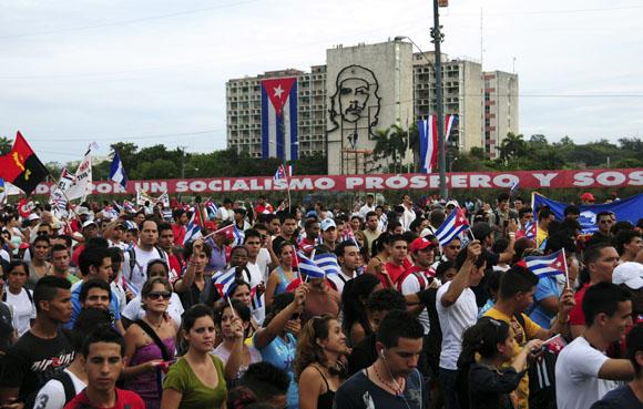 Desfile por el 1ro de Mayo en La Habana. Foto: Ladyrene Pérez/Cubadebate.