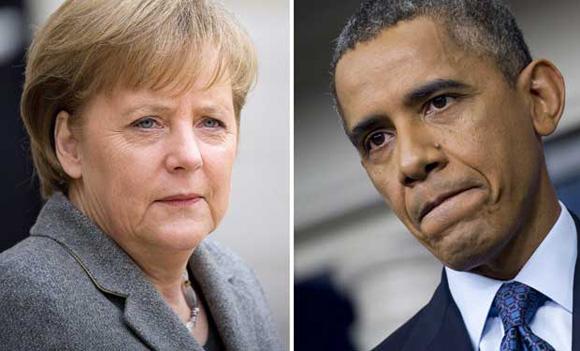 El Gobierno alemán tiene informaciones que apuntan a que los servicios de inteligencia estadounidenses habrían espiado durante años el teléfono móvil personal de la canciller, Angela Merkel, quien exigió este miércoles personalmente explicaciones al presidente de EE UU, Barack Obama, Ver más en: http://www.20minutos.es/noticia/1956637/0/merkel/obama/espionaje/#xtor=AD-15&xts=467263