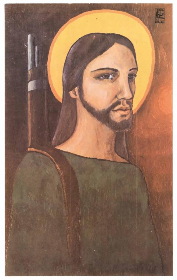 El Cristo guerrillero.