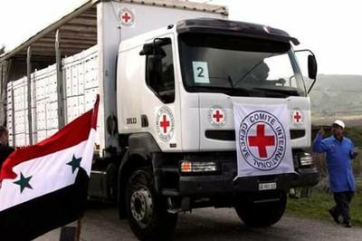 La misión de la Cruz Roja está conformada por médicos extranjeros y sirios. Foto: Archivo.