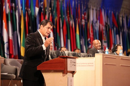 Rafael Correa + Unesco