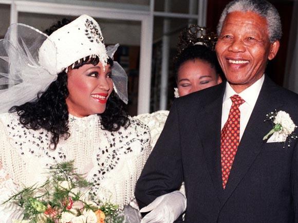 En la boda de su hija, Zinzi Mandela (octubre de 1992).