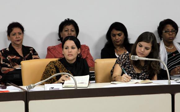 Comisión de Atención a la Juventud, la Niñez y la igualgad de derechos de la Mujer. Foto: Ismael Francisco/Cubadebate.