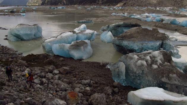 Lago chileno que desaparece regularmente. Foto: AFP