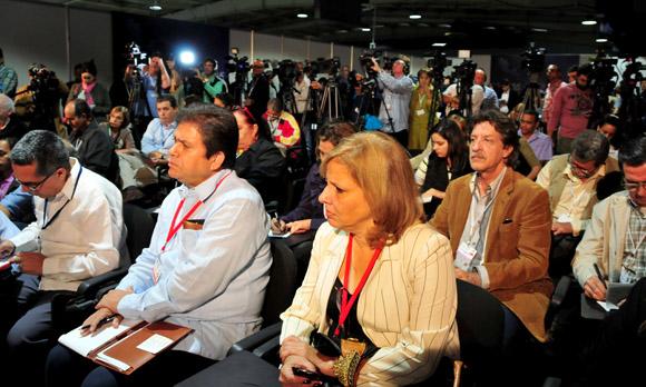 Canciller cubano inaugura  Sala de Prensa de la II Cumbre de la CELAC. Foto: Ladyrene Pérez/ Cubadebate