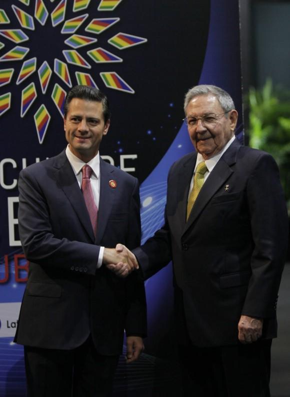 Recibimiento a mandatarios de CELAC. Foto: Ismael Francisco/Cubadebate