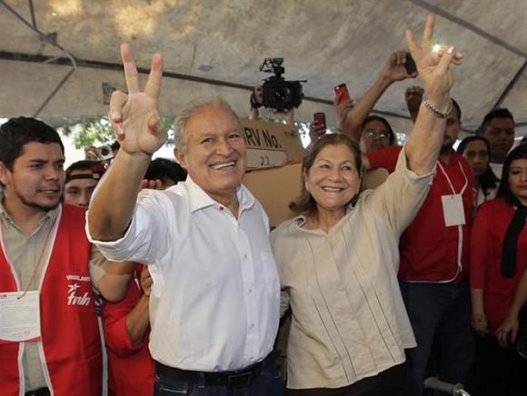 Sánchez Cerén, candidato del Frente Farabundo Martí para la Liberación Nacional (FMLN), de El Salvador. Foto: EFE