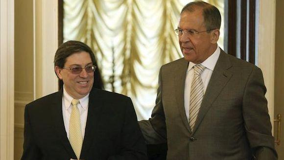 Lavrov reitera la postura de Moscú a favor de levantar el bloqueo a Cuba. Foto: EFE