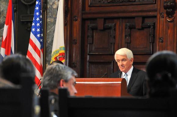 Thomas J. Donohue, presidente de la Cámara de Comercio de Estados Unidos. Foto: Ricardo López Hevia/ Diario Granma
