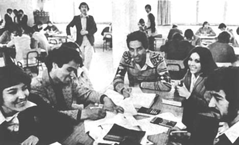 Kabul University in 1980.