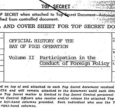Detalle de la portada del Volumen 2 del Informe Oficial de la CIA.