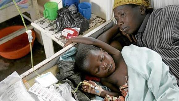 Niño enfermo de Malaria. Foto: AP (Archivo).