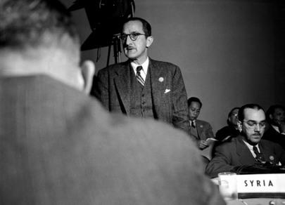 Ernesto Dihigo Lopez Trigo (de pie) como parte de la delegación cubana en la conferencia de San Francisco, realizada del 25 de abril al 26 de junio de 1945