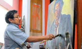 El pintor Bruno Portuguez.
