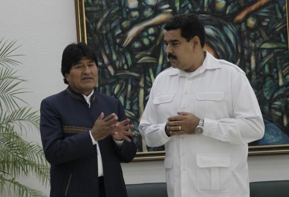 Evo Morales y Nicolás Maduro. Foto: Ismael Francisco/ Cubadebate.