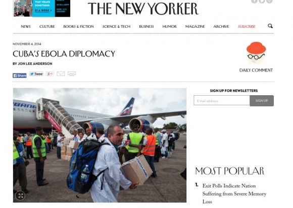 the new yorker ebola cuba usa