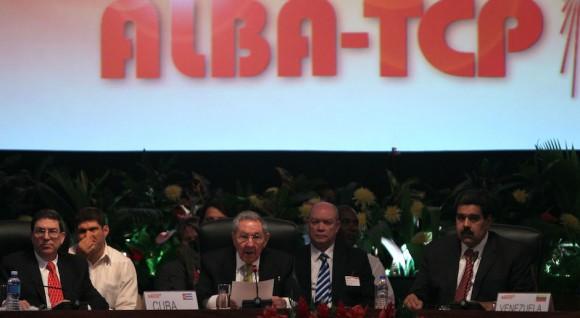 Raúl Castro interviene en la Cumbre ALBA-TCP. Foto: Ismael Francisco/ Cubadebate