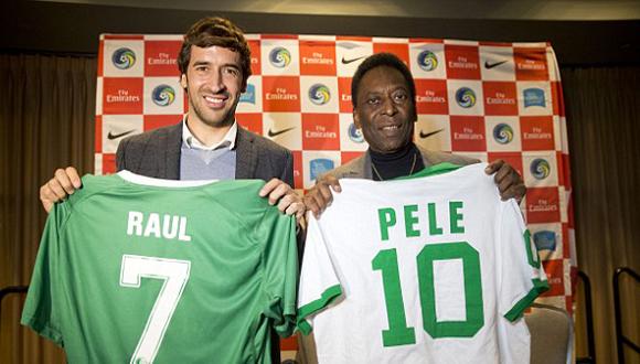 Leyendas como Raúl y Pelé han formado parte de la historia del club norteamericano. Foto tomada de sport.net