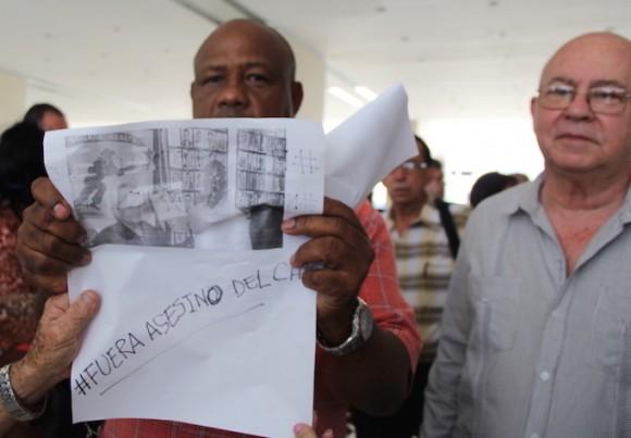 #FueraAsesinodelChe. Foto: David Vázquez