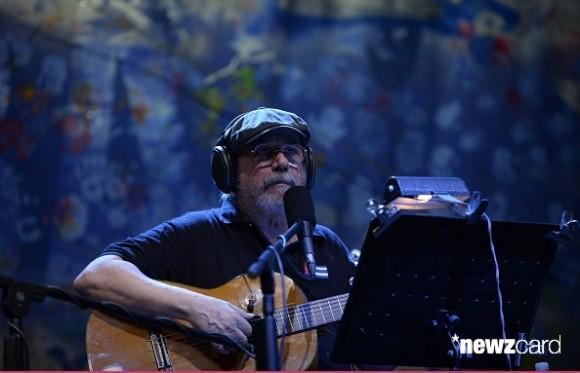Concierto de Silvio Rodríguez en la Universidad de Panamá, durante la inauguración de la Cumbre de los Pueblos. Foto: AFP.