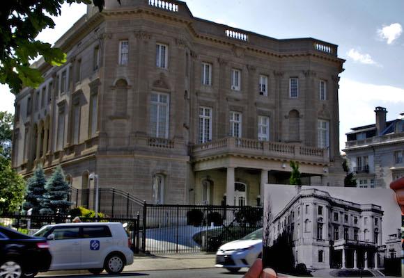 La misión diplomática de Cuba en Washington en dos tiempos. Foto: Ismael Francisco/ Cubadebate