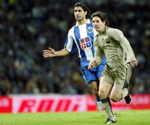 Messi debuta contra el Oporto. Foto: youtube.com