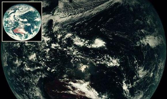 Desde una distancia de 35.790 kilometros, el satélite muestra cómo se ve nuestro planeta antes de que se realicen filtros y mejoras de imagen.