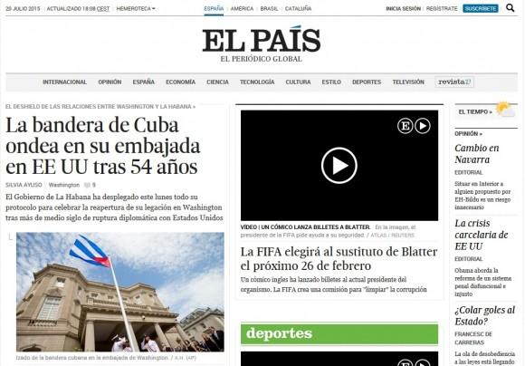 El País, España, 20 de julio de 2015