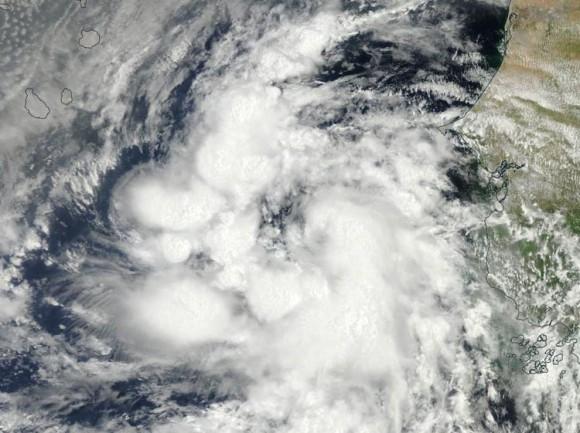 La tormenta tropical Fred, a punto de convertirse en el segundo huracán de la temporada en el Atlántico.                                      Imagen del satélite MODIS de NASA 30 de agosto, 2015.