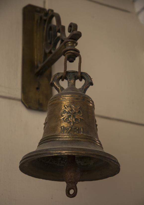 La campana original del Seminario San Carlos y San Ambrosio de La Habana, con la fecha en que fue creada: 1731. Foto: Ismael Francisco/ Cubadebate
