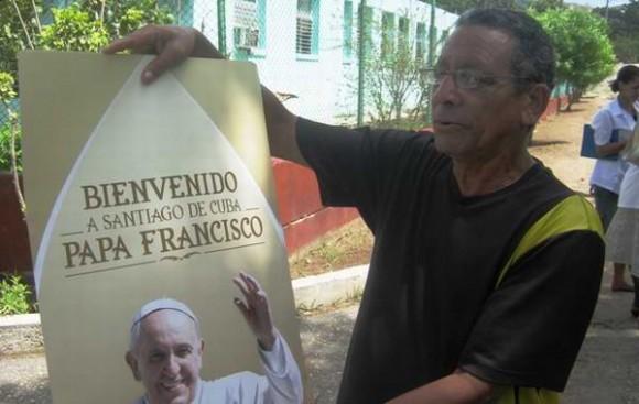 Más de 30 mil personas del poblado del Cobre y otras localidades cercanas, darán la bienvenida al Papa Francisco en la visita que realizará los próximos día 21 y 22 al Santuario de la Virgen de la Caridad