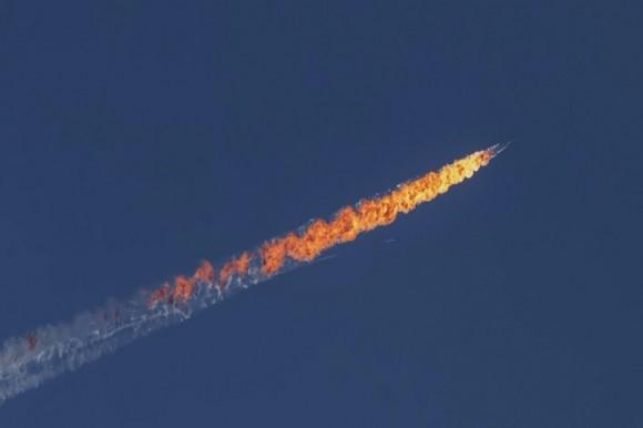 Derribo del avión ruso en Turquía. Foto: FATIH AKTA/ANADALU AGENCY/GETTY IMAGES