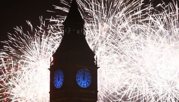 Fuegos artificiales en Londres. on January 01, 2016 in London, England. Foto: Carl Court/Getty Images.