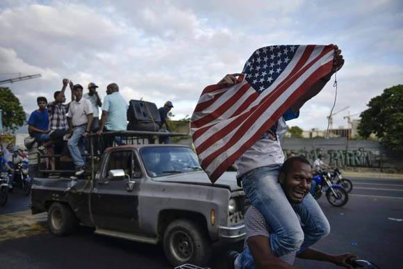 Así celebra la derecha las elecciones en Venezuela. Foto: El País.