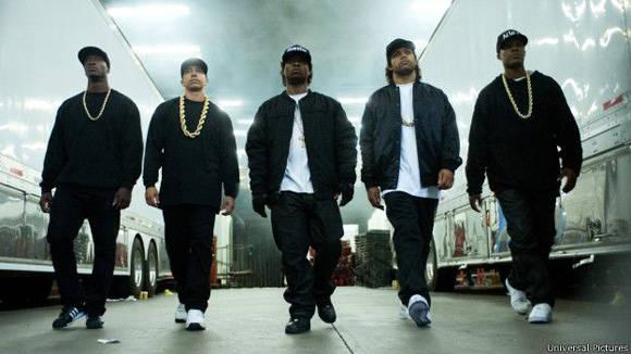 Straight Outta Compton fue aplaudida por el público y la crítica cuando se estrenó en agosto en EE.UU. Foto. Universal Pictures.