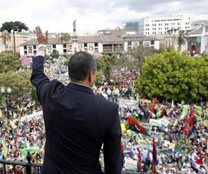 Rafael Correa celebra con el pueblo nueve años de gestión. Foto: Presidencia de Ecuador.