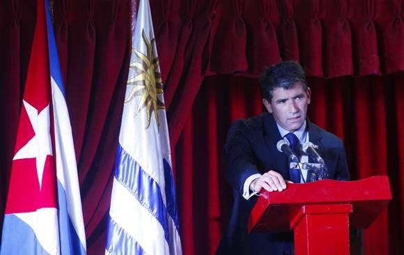 El Vicepresidente de Uruguay, Raúl Sandic, se refirió a las buenas relaciones históricas y actuales entre estas dos naciones. Foto: José Raúl Concepción/Cubadebate.