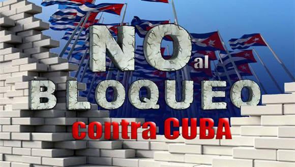 No al bloqueo contra Cuba