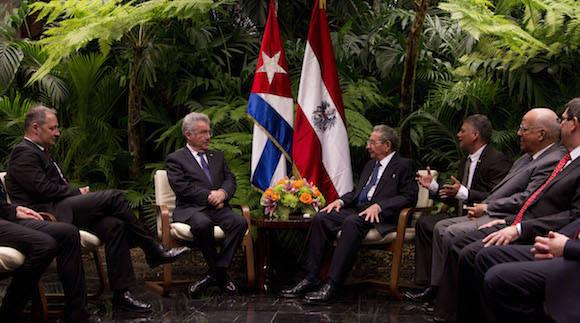 Inicia visita oficial a Cuba presidente federal de Austria, Heinz Fischer. Foto: Ismael Francisco/ Cubadebate