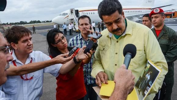 CUBA-LA HABANA-REGRESA A LA PATRIA NICOLAS MADURO PRESIDENTE DE